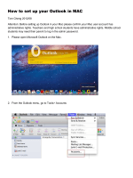 How to set up your Outlook in MAC - SP New Moodle