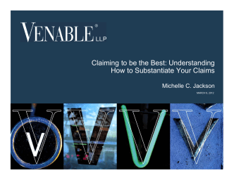 Claiming to be the Best: Understanding How to - Venable LLP