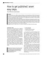 How to get published: seven easy steps - The British Association of