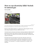 How to cut electricity bills? Switch to natural gas - Rosemont