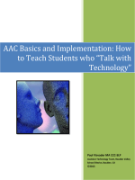 AAC Basics and Implementation: How to Teach Students - SWAAAC