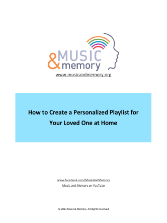 How to Create a Personalized Playlist for Your - Music  Memory