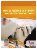 How to respond to a family violence intervention - Victoria Legal Aid