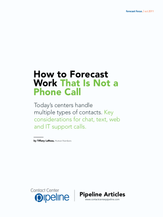 How to Forecast Work That Is Not a Phone Call - Human Numbers