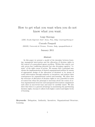 How to get what you want when you do not know - ResearchGate