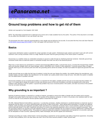 Ground loop problems and how to get rid of them - The Blue Guitar