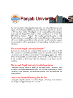 How to reach Panjab University from ISBT How to reach Panjab