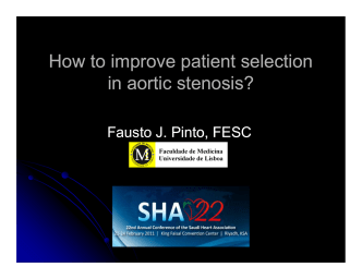How to improve patient selection in aortic stenosis? in aortic in aortic