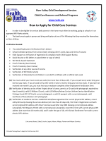 H How to A Apply fo or Child Care Ser rvices - Link Child Care