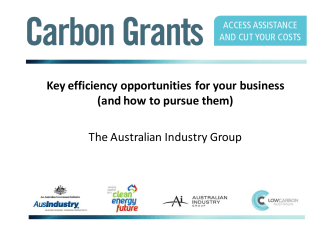 Australian Industry Group -Key efficiency opportunities for your