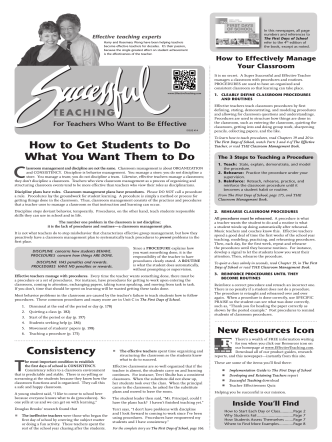 Consistency How to Get Students to Do What You Want Them to Do