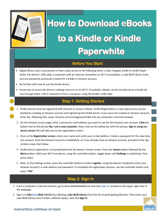 How to Download eBooks to a Kindle or Kindle Paperwhite