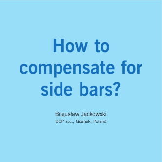 HOW TO COMPENSATE FOR SIDE BARS?