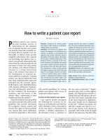 How to write a patient case report - ASHP