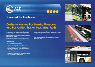 design options - Transport for Canberra - ACT Government