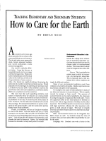 How to Carcfor the Earth - Circle
