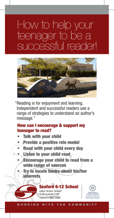 How to help your teenager to be a successful reader! - APPA