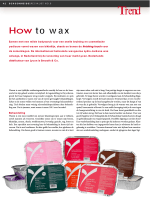 How to wax - Smooth  Co