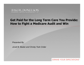Get Paid for the Long Term Care You Provide: How to Fight a