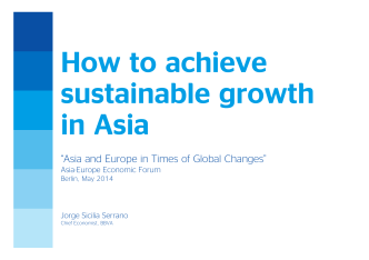How to achieve sustainable growth in Asia - BBVA Research
