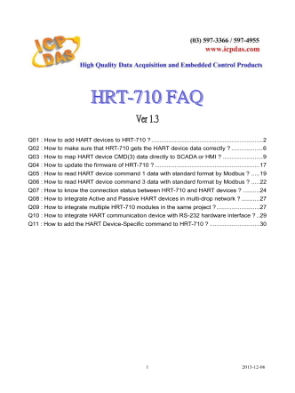 Q01 : How to add HART devices to HRT-710 - ICP DAS
