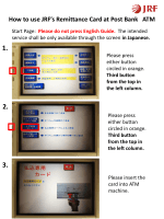 HOW TO USE POST BANK ATM With JRF REMITTANCE CARD