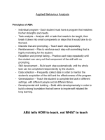 ABA tells HOW to teach, not WHAT to teach