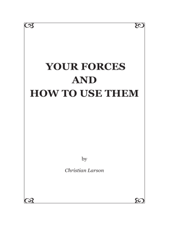 Christian Larson - Your Forces and How to Use them - Brainy Betty