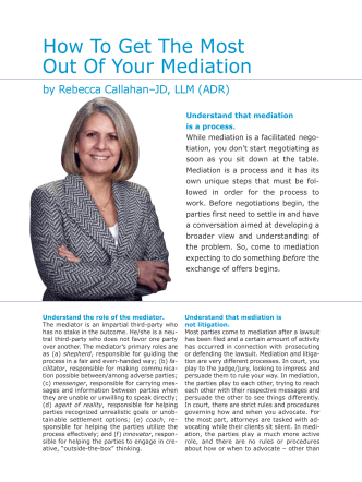 How To Get The Most Out Of Your Mediation - Callahan Dispute