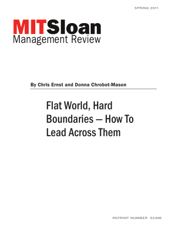 Flat World, Hard Boundaries — How To Lead Across Them