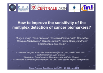 How to improve the sensitivity of the multiplex detection of cancer