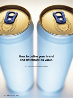 How to define your brand and determine its value.