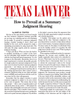 How to Prevail at a Summary Judgment Hearing - Andrews Kurth LLP