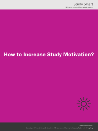 How to Increase Study Motivation? - The University of Hong Kong