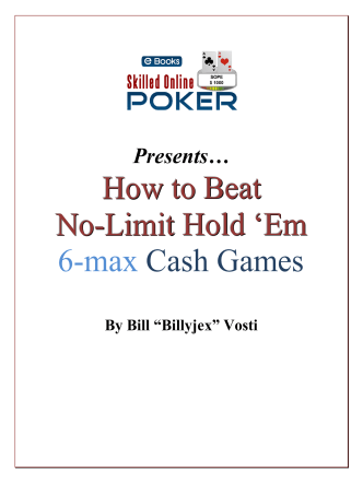 How to beat NLHE 6-max Cash Games - Neopoker