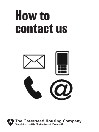 How to contact us - The Gateshead Housing Company