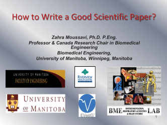 How to Write a Good Scientific Paper? - University of Manitoba