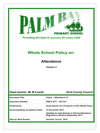HOW TO DEVELOP A - Palm Bay Primary School