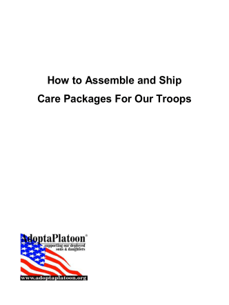 How to Assemble and Ship Care Packages For - Adopt a Platoon
