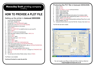 HOW TO PROVIDE A PLOT FILE - Macaulay Scott Printing