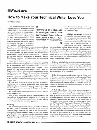 How to Make Your Technical Writer Love You - BCIT