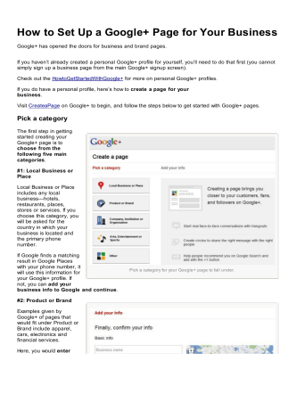 How to Set Up a Google+ Page for Your Business - Martial Arts