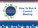 How to Run a Council Meeting - Iowa League of Cities