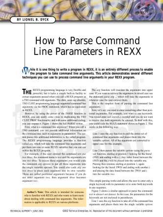 How to Parse Command Line Parameters in REXX - z/OS Freeware