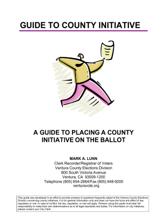 HOW TO DO A COUNTY - County Clerk and Recorder / Registrar of