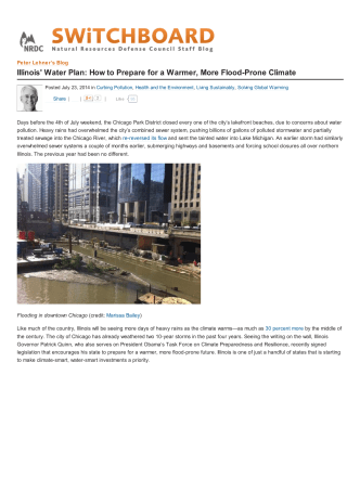 Illinois Water Plan: How to Prepare for a Warmer - Waterbucket