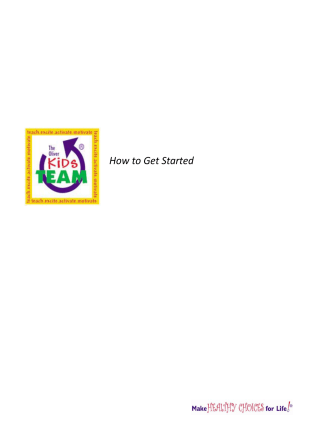 How to Get Started - Oliver Foundation