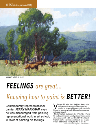 FEELINGS are great... Knowing how to paint is - Jerry Markham