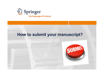 How to submit your manuscript?