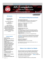 AIS Computers Holiday Hours and Events Webinar: How to Market